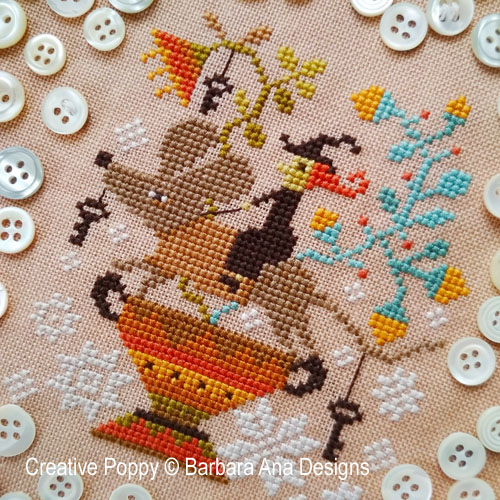 Witch Ride? cross stitch pattern by Barbara Ana Designs