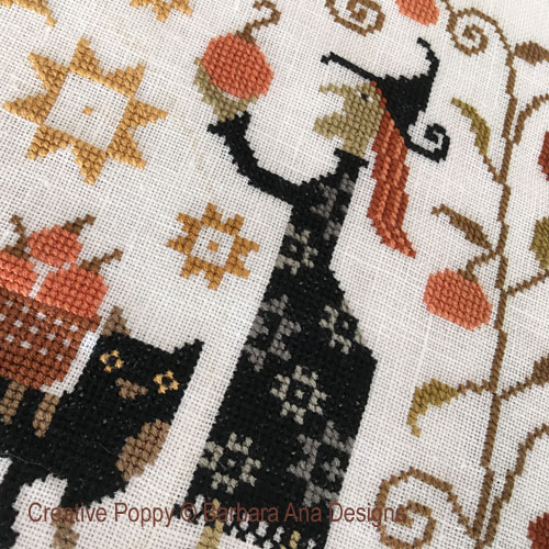 Witchy Harvest cross stitch pattern by Barbara Ana Designs, zoom 1