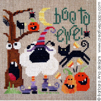 Boo to ewe - cross stitch pattern - by Barbara Ana Designs