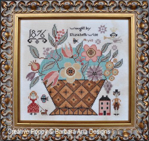 Elizabeth Wise cross stitch pattern by Barbara Ana Designs