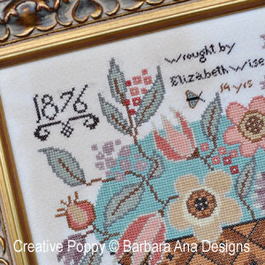 Elizabeth Wise cross stitch pattern by Barbara Ana Designs