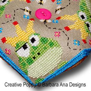 Frogscornu cross stitch pattern by Barbara Ana Designs, zoom 1