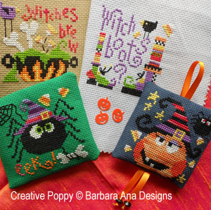 Barbara Ana- Halloween Ornaments - 4 mini charts (cross stitch)
