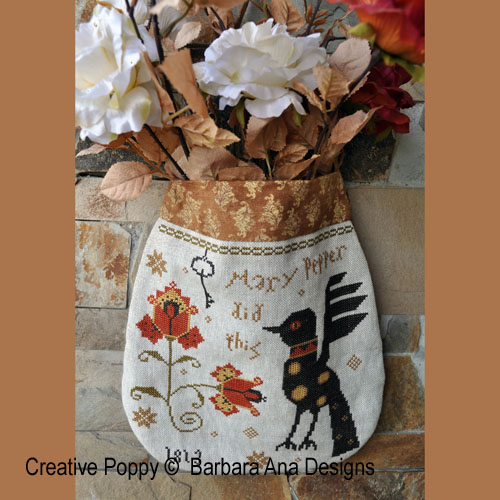 Mary Pepper Pouch cross stitch pattern by Barbara Ana Designs
