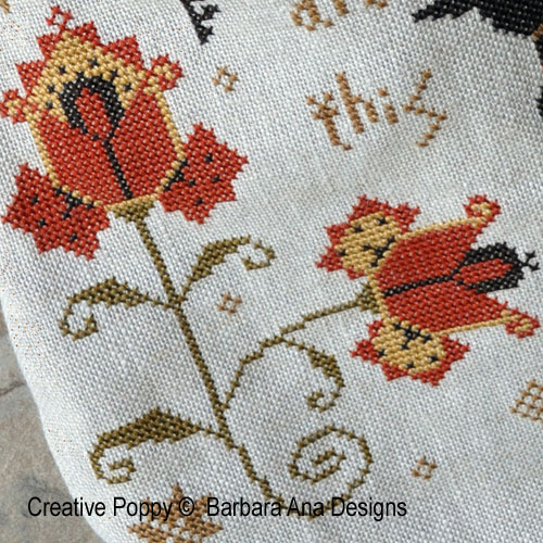 Mary Pepper Pouch cross stitch pattern by Barbara Ana Designs, zoom 1
