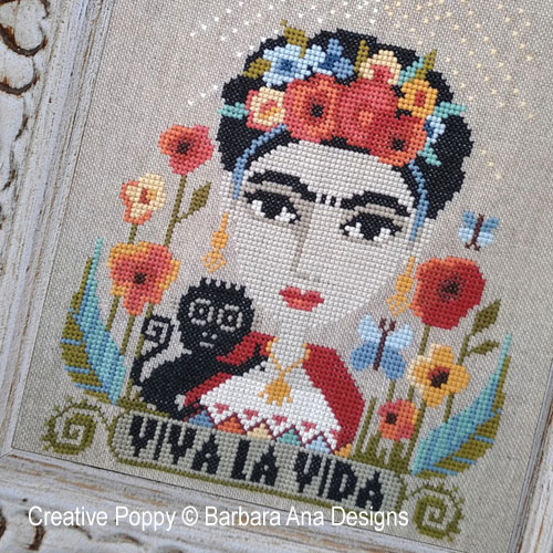 Viva la Vida cross stitch pattern by Barbara Ana Designs, zoom 1