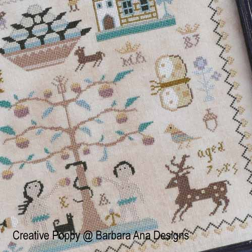 Polly Kirby cross stitch pattern by Barbara Ana Designs, zoom 1