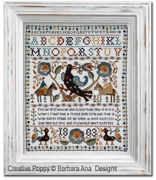 Portuguese Bird Sampler cross stitch pattern by Barbara Ana designs