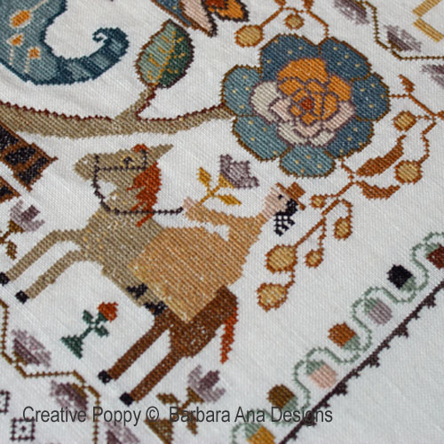 Portuguese Bird Sampler cross stitch pattern by Barbara Ana Designs, zoom1