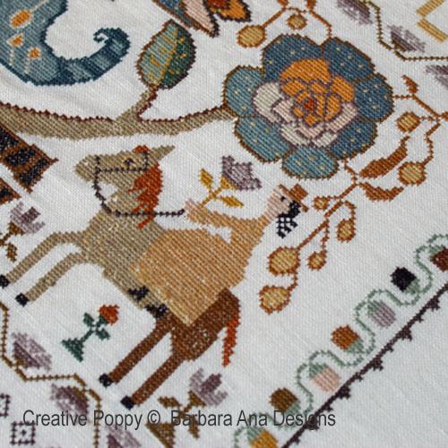 Portuguese Bird Sampler cross stitch pattern by Barbara Ana Designs, zoom1