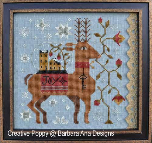 Spreading Joy cross stitch pattern by Barbara Ana Designs
