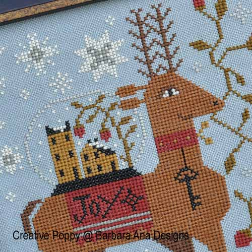 Spreading Joy cross stitch pattern by Barbara Ana Designs, zoom 1