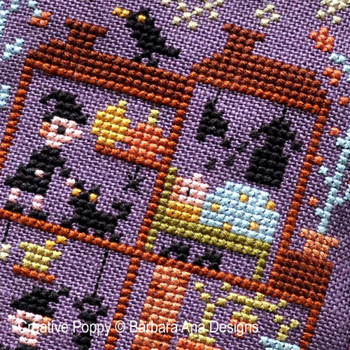 Witch House? cross stitch pattern by Barbara Ana Designs, zoom 1