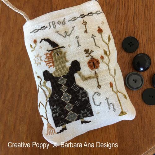 Witch Pumpkin? cross stitch pattern by Barbara Ana designs