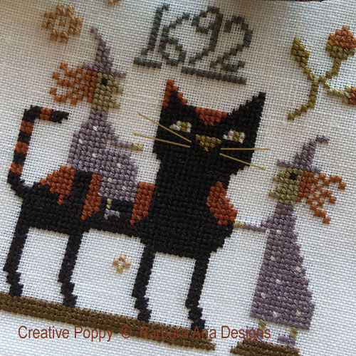 Witch Cat? cross stitch pattern by Barbara Ana Designs, zoom 1