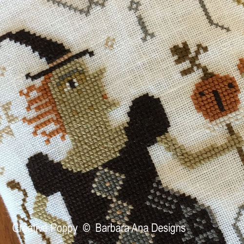 Witch Pumpkin? cross stitch pattern by Barbara Ana designs