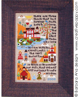 Love & Wisdom sampler - cross stitch pattern - by Barbara Ana Designs