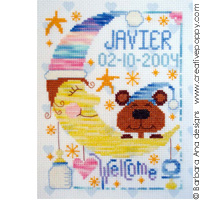 New baby - Boy/girl - cross stitch pattern - by Barbara Ana Designs