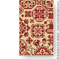 Quaker sampler - pattern II - cross stitch pattern - by Barbara Ana Designs