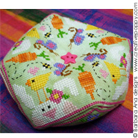 Spring Biscornu - cross stitch pattern - by Barbara Ana Designs