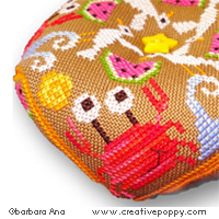 Summer Biscornu cross stitch pattern by Barbara Ana designs, zoom 1
