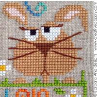 <b>Thinking about you</b><br>cross stitch pattern<br>by <b>Barbara Ana Designs</b>