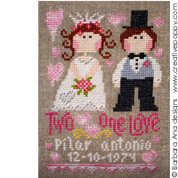 Two hearts, one love - cross stitch pattern - by Barbara Ana Designs