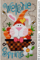Welcome Spring! - cross stitch pattern - by Barbara Ana Designs