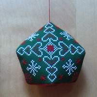 Heart & Snowflakes Biscornu