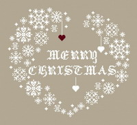 Merry Christmas - cross stitch pattern - by Couleur d'étoile