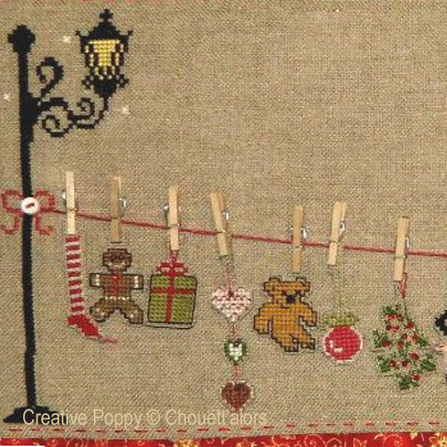Christmas laundry line - Advent calendar cross stitch pattern by Chouett'alors
