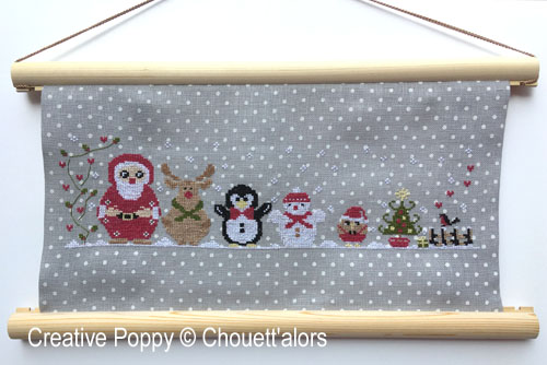 Christmas Matryoshka cross stitch pattern by Chouett'alors