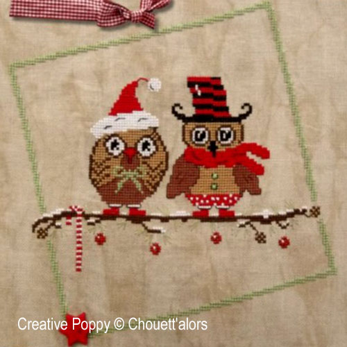 Christmas Owls Duo cross stitch pattern by Chouett'alors