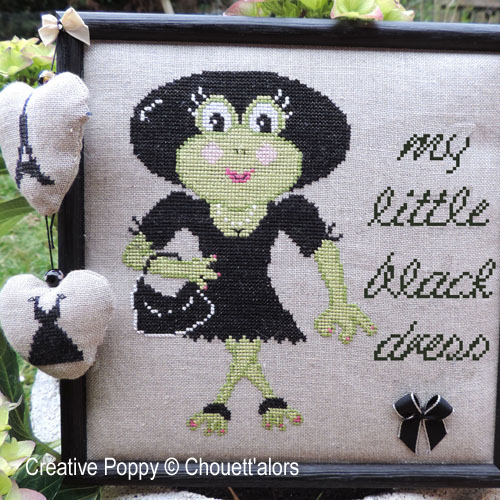 My little black dress cross stitch pattern by Chouett'alors