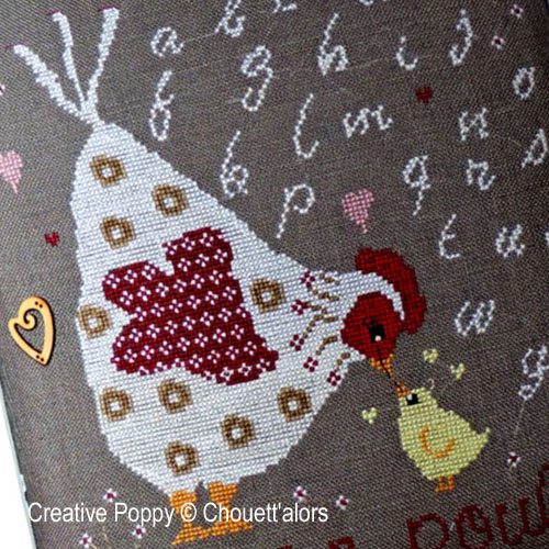 Mum and me cross stitch pattern by Chouett'alors