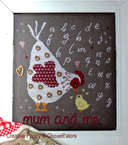 Mum and me cross stitch pattern by Chouett'alors