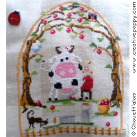 <b>Good milk</b><br>cross stitch pattern<br>by <b>Chouett\'alors</b>