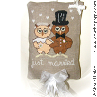 Just married - cross stitch pattern - by Chouett'alors