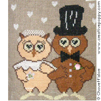 Just married - cross stitch pattern - by Chouett'alors (zoom 1)