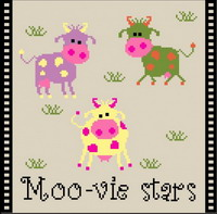 Moo-vie stars - cross stitch pattern - by Chouett'alors