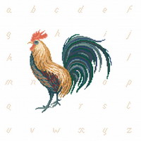 Cock-A-Doodle-Do! - cross stitch pattern - by Monique Bonnin