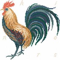 Cock-A-Doodle-Do! - cross stitch pattern - by Monique Bonnin (zoom 1)