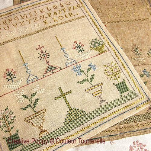 E. Loir cross stitch reproduction sampler by Couleur Tourterelle, zoom 1