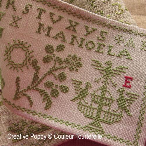 Manoela Estadella cross stitch reproduction sampler by Couleur Tourterelle