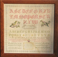 Antique sampler: C. Mathy 1878 - Reproduction sampler - charted by Muriel Berceville
