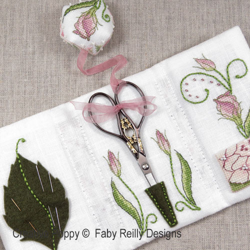 Faby Reilly Designs - Lizzie Stitching Wallet zoom 1 (cross stitch chart)