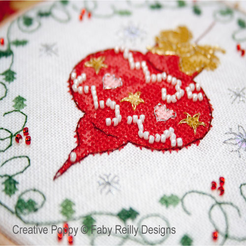 Bauble & Heart Hoops cross stitch pattern by Faby Reilly Designs, zoom 1