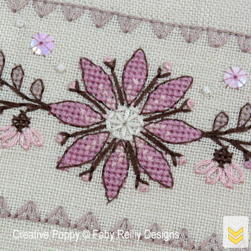 BiscoBourse - Intermediate level cross stitch pattern by Faby Reilly Designs