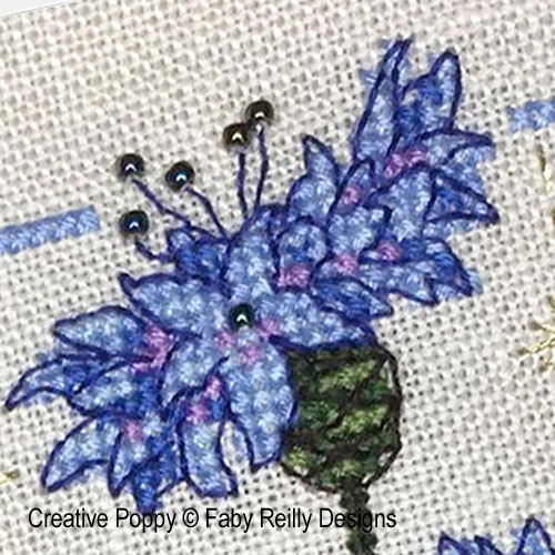 Anthea - June Cornflowers cross stitch pattern by Faby Reilly Designs
