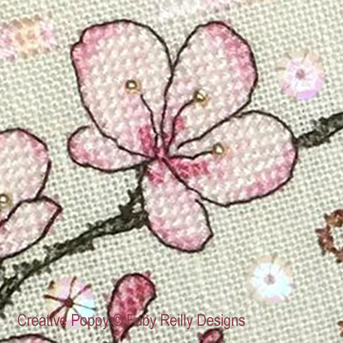 Anthea - May Blossoms cross stitch pattern by Faby Reilly Designs, zoom 1